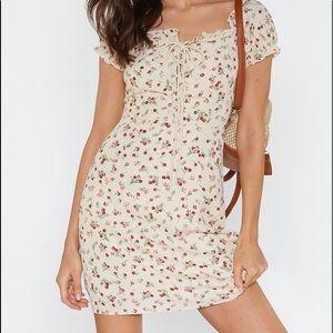 Nasty Gal NWOT Rose summer dress with tie